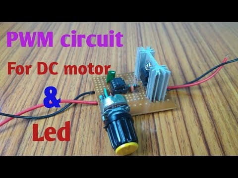 PWM circuit for motor speed control & Led