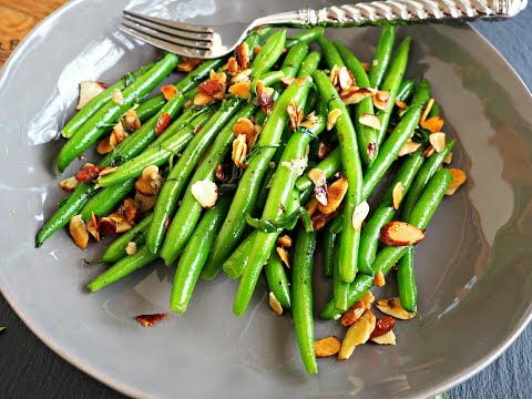 Side Dish Recipe: Sauteed Green Beans with Almonds & Tarragon by Everyday Gourmet with Blakely