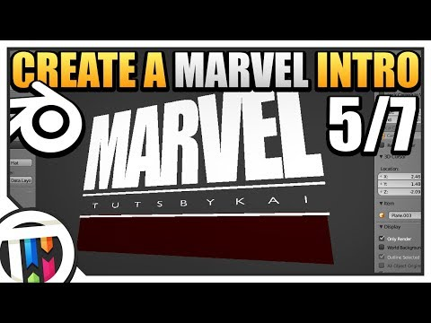 Blender Tutorial - How to make a Marvel Intro - Advanced Text (5/7)