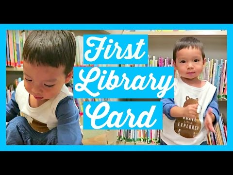 TODDLER'S FIRST LIBRARY CARD! AprilJustinTV