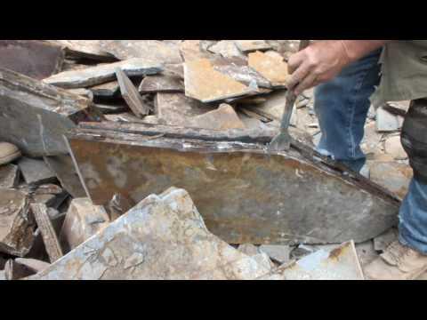Hand Splitting Eagle Mtn Slate Flagstone and Patio Stone