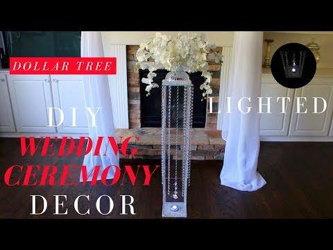 DIY WEDDING CEREMONY DECOR | DOLLAR TREE WEDDING DECORATIONS | WEDDING AISLE DECORATIONS