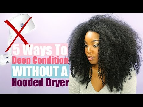 5 Ways to Deep Condition Without A Hooded Dryer | Natural Hair | Melissa Denise