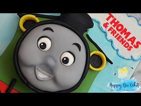 Train cake tutorial | Train cake decorating | Percy Thomas