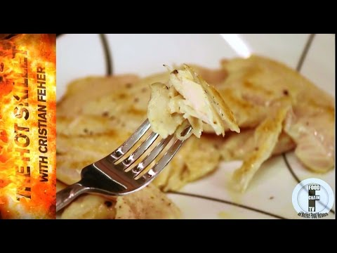 How to cook moist juicy chicken breasts that don't dry out by butterflying them