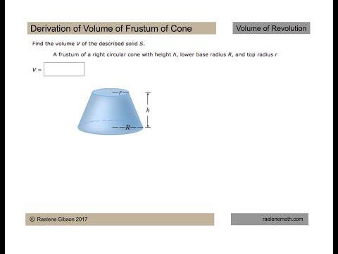 Volume Frustum Cone