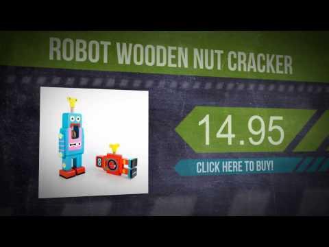 Robot Wooden Nut Cracker