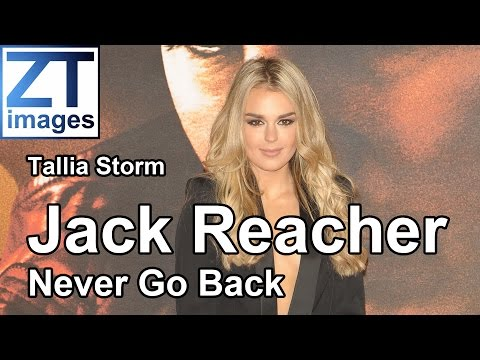 Tallia Storm at the film premiere Jack Reacher: Never Go Back in London, UK.