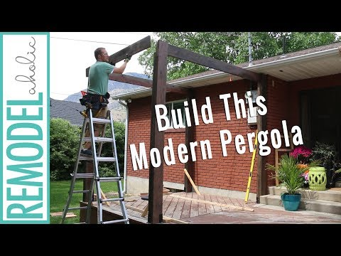 How to Build a Pergola on a Deck: DIY Modern Pergola Tutorial