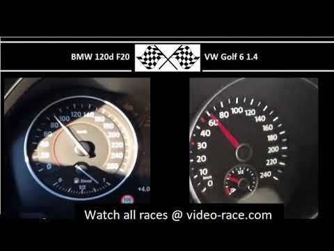 BMW 120d F20 VS. VW Golf 6 1.4 - Acceleration 0-100km/h