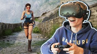 TOMB RAIDER IN VIRTUAL REALITY! | Tomb Raider VR: Dagger of Xian (HTC Vive Gameplay)