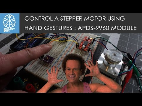 Control a Stepper Motor with Hand Gestures! APDS-9960 Module - Tutorial
