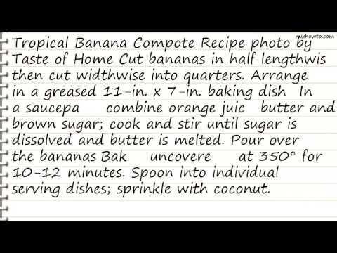 Recipe Tropical Banana Compote Recipe