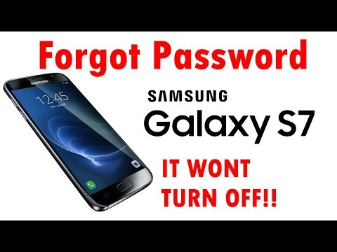 All Galaxy S7  & Edge Forgot Password Factory Reset Cant Shut Down To Restore