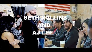 AJ LEE & SETH ROLLINS - THE BEACH