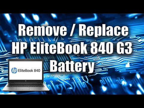 How to Remove / Replace HP EliteBook 840 G3 Battery - PC Tutorial