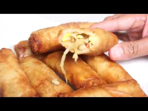 HOW TO COOK LUMPIANG TOGUE ( HOW TO MAKE MUNG BEAN SPROUT SPRING ROLLS)