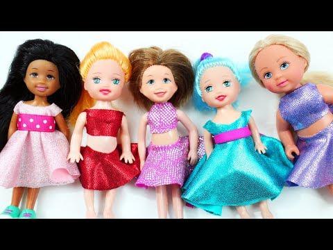 👚👗👕DIY | Barbie's Chelsea Doll no glue, no sew Clothes - simplekidscrafts