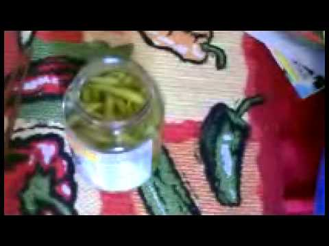 What Am I Eating?  DAM OT HIEM Pickled green chile peppers from Thailand.