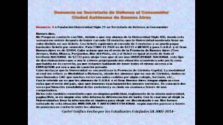 Alumnos Estafados Fundación Empresarial Siglo 21- students cheated Foundation 21st Century