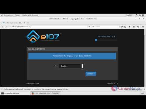 How to install E107 CMS 2.1.7 on CentOS 7