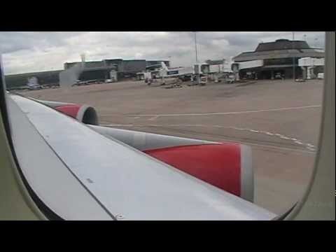 the start of my holiday flight from manchester to orlando part 1 of 2