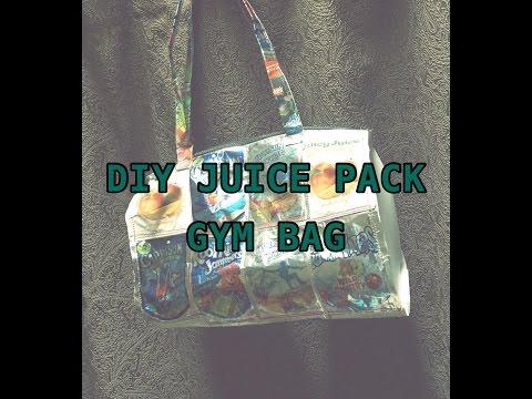 DIY Capri sun/juice pack gym bag tutorial