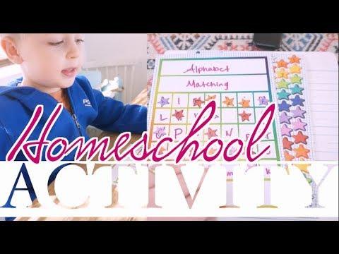 How to Homeschool a Toddler |  Letter Matching & Identification | steffiethischapter