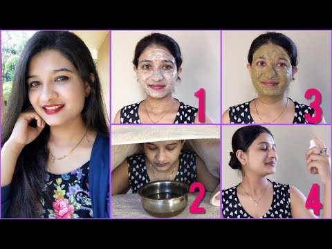 How to get clean & clear skin naturally in Hindi | Remove Pimples & Wrinkles Using Green Tea Facial