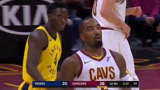 Jr. Smith hits 6 three pointers in first half vs Indiana!