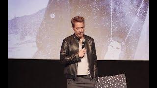 Robert Downey Jr Jeremy Renner Chris Evans Elizabeth Olsen Wind River Screening Qa