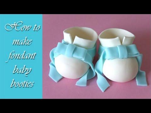 How to make fondant baby booties tutorial / Jak zrobić buciki z masy cukrowej
