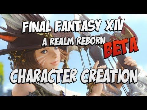 Final Fantasy XIV: A Realm Reborn Beta - Character Creation