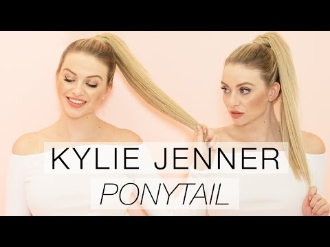Kylie Jenner Inspired High Ponytail with Hair Extensions l Milk + Blush