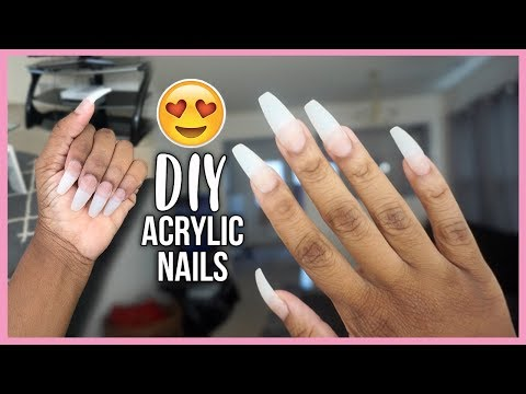 SAVE YOUR MONEY! HOW TO DO FAKE NAILS AT HOME | BEGINNER FRIENDLY