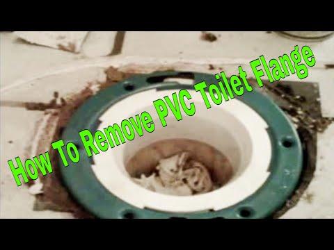 How To Remove PVC Toilet Flange 👍👍👍