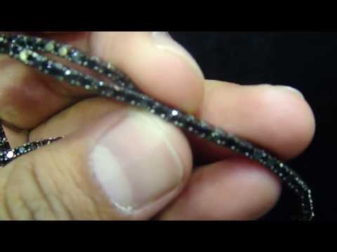 One Row Iced Out Mini Black Lab Diamond Necklace 36inch At Atl Jeweler Mr Chris