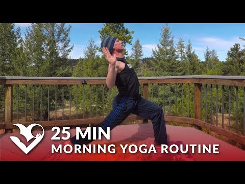 25 Min Morning Yoga Routine for Men & Women w/ Sean Vigue - Stretches at Home Workout Exercises