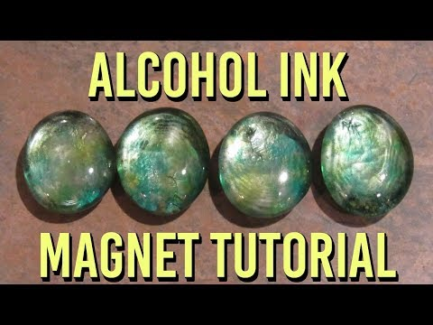 Alcohol Ink Magnets Tutorial! Fast, Easy & Beautiful Gift Idea! | How To Make Alcohol Ink Magnets!