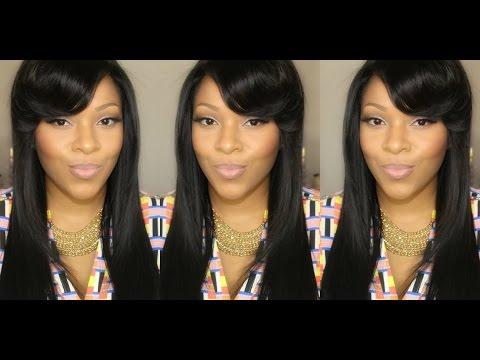 Hair Tutorial: Voluminous Side Swept Bangs Using a Flat Iron Ft. Her Hair Company