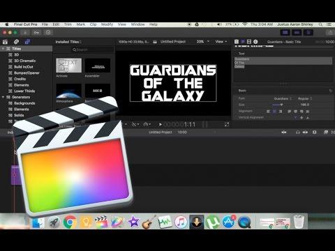 How To Import New Fonts - Final Cut Pro X/Macbook Tutorial