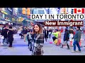 Day 1 in Toronto, Canada | New Immigrant | AirBnB, Banks, Sim cards