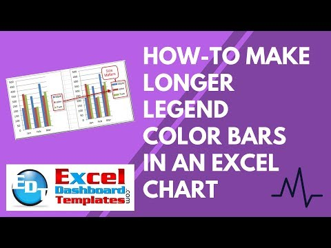 How-to Make Longer Legend Color Bars in an Excel Chart