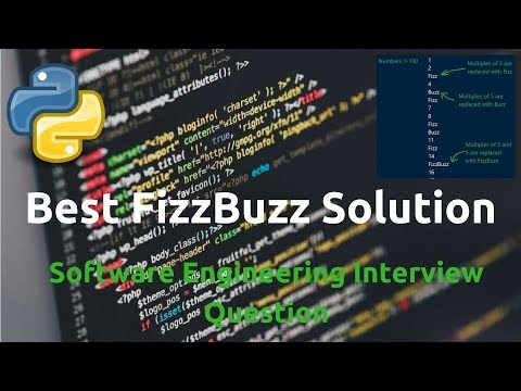 Best FizzBuzz Solutions | Software Interview Question How To Solve in Python