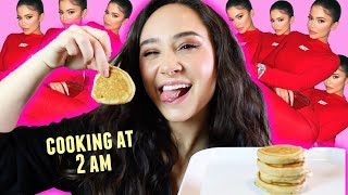 COOKING KYLIE'S FAMOUS PANCAKES AT 2 AM *boredom at its finest*