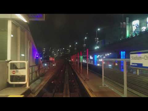 Skytrain ride in Vancouver downtown Canada