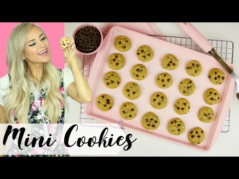 How To Make Mini Chocolate Chip Cookies // Lindsay Ann Bakes