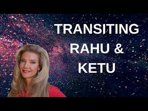 Transiting Rahu and Ketu (north and south node of the moon)