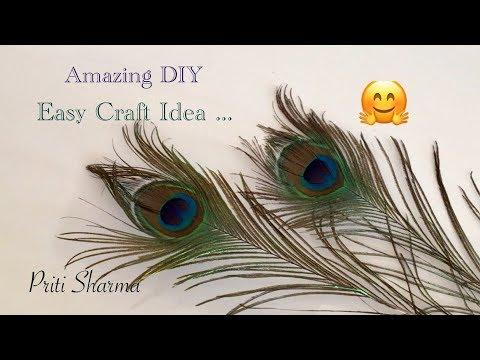 DIY : Interesting Peacock Feathers Easy Craft Idea / Priti Sharma