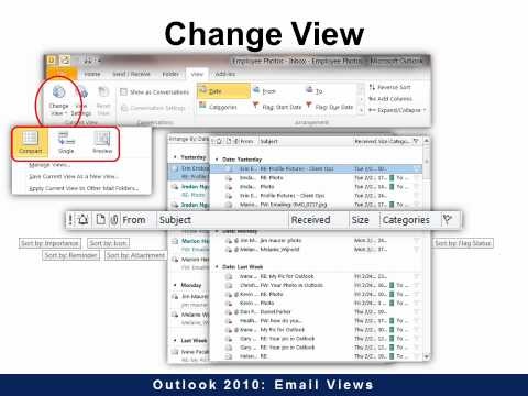 Outlook 2010 - Email Views